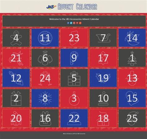 Discount Advent Calendars J S Accessories Advent Calendar Discounts And
