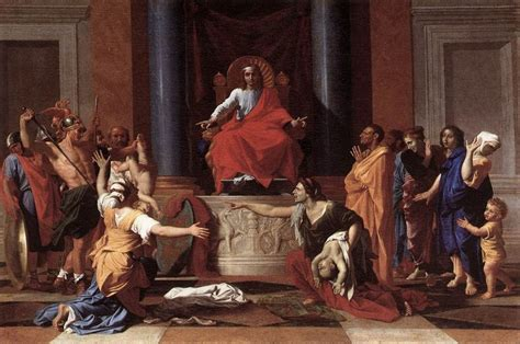 The Judgment Of by Nicolas Poussin Style And Technique Artble