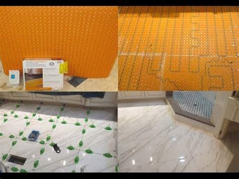 Ditra Heat On Shower Floor - complete tile shower install part 7 installing ditra heat