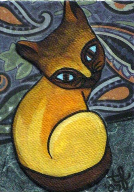 Diskon Maries Orange Cat Acrylic orange crush by tina ferguson from paintings oils