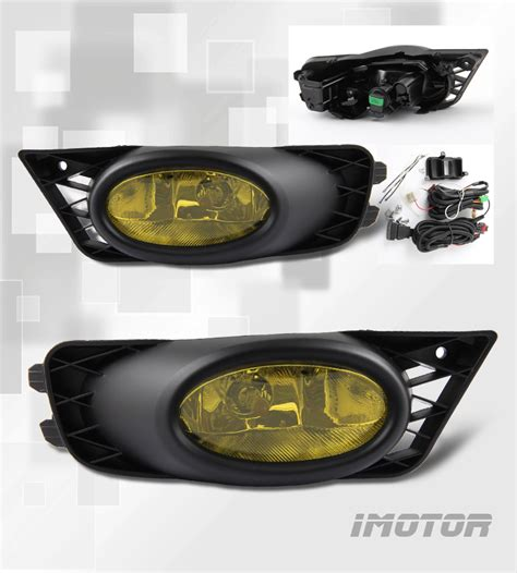 2009 2010 2011 honda civic 4dr yellow lens fog lights w