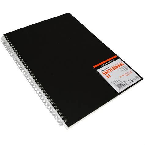 a4 spiral sketchbook graduate sketch book spiral a4 black cover daler