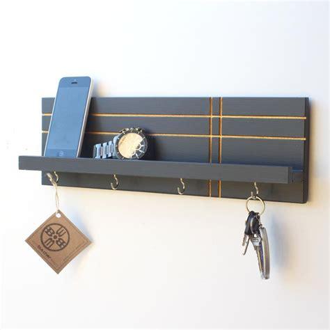Key Holder And Shelf by Key Holder Jewelry Organizer Geo Wood Butcher Designs