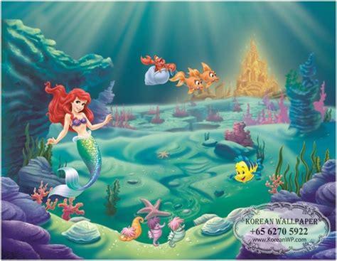 3d Wall Stickers For Kids disney the little mermaid mural for kids children amp girls