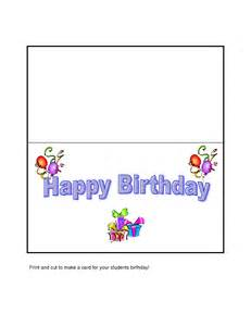 Birthday Card Printable Template Birthday Card Template Thevolunteerinside Org
