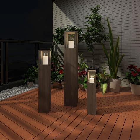 outdoor torch lighting garden candle stand set 3 pcs outdoor lighting torch