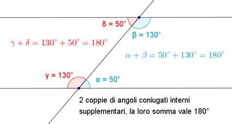 angoli alterni interni angoli formati da una retta che taglia due parallele
