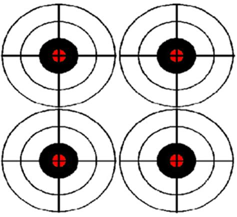 printable pistol training targets american firearms training print targets