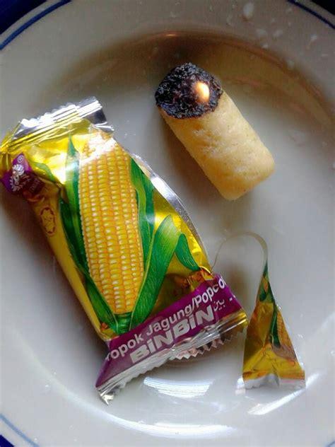 benarkah snek jagung bin bin dibuat  bahan plastik