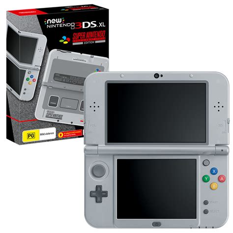 console nintendo 3ds xl new nintendo 3ds xl snes edition console the gamesmen