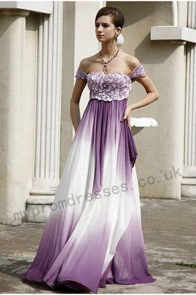 Gaun Dress Kostum Rapunzel Ungu foto motif ombre ungu anggun vemale halaman 1
