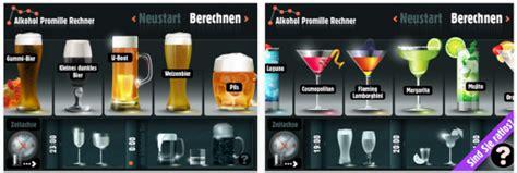 Mit Wieviel Promille Darf Man Noch Auto Fahren by Alkohol Promille Rechner App F 252 R Iphone Und Ipod Touch