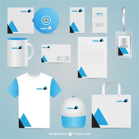 business identity corporate vector free download
