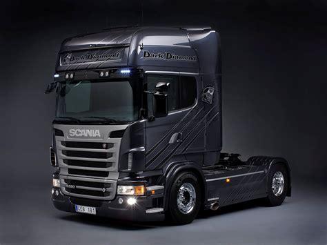 wallpaper black truck scania scania