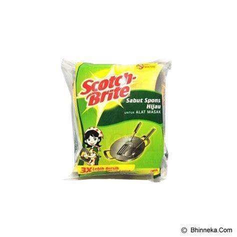 Sabut Spons Hijau jual 3m sabut spons 3x4 inch hijau murah bhinneka