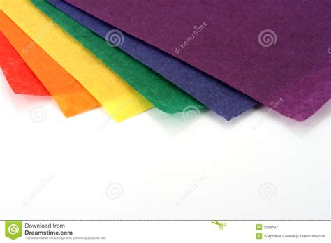 Colored Craft Paper - rainbow colored craft paper royalty free stock photography