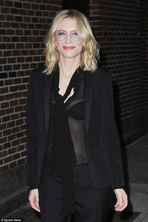 Cate Blanchett Has Seen Better Days cate blanchett wears see through top on the late show with
