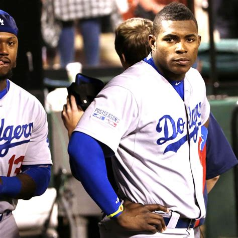 puig benched yasiel puig benched for andre ethier for game 4 of nlds vs