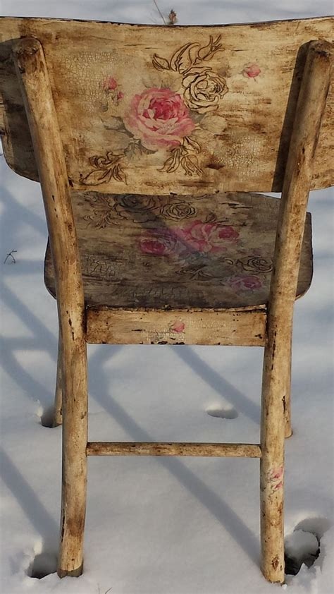 Decoupage Chair - 1000 ideas about decoupage furniture on