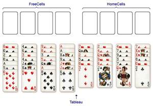 Cute freecell solitaire green felt freecell card game