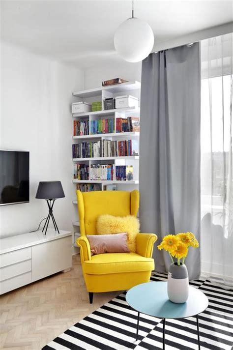 Yellow Armchair Design Ideas Galeria Zdjęć Zasłony W Salonie Jak Dobrać Do Wnętrza Zdjęcie Nr 2 Urzadzamy Pl