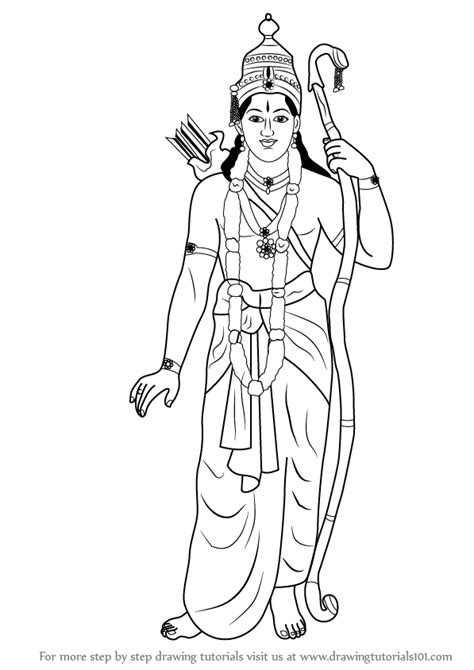 how to sketch learn how to draw lord rama hinduism step by step