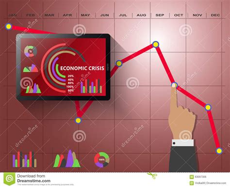 select comfort stock history economic crisis as concept stock illustration image