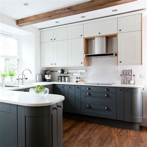 two tone painted kitchen cabinets ideas saomc co grey kitchen ideas that are sophisticated and stylish