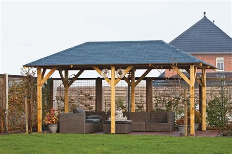 wooden gazebo superior wooden gazebo 3 4x5 9m