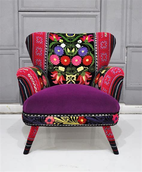 patchwork armchairs patchwork armchair with suzani thai hmong and velvet