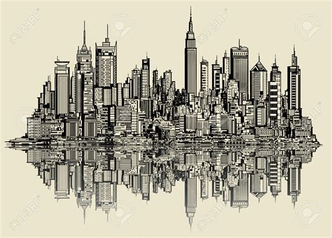 Sketches Nyc by New York Skyline Drawing 4 127 New York Skyline Stock