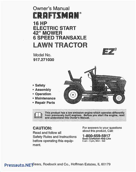 917 craftsman 20 0 hp electric start 48 in mower
