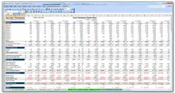 p l model template business plan financial model template bizplanbuilder