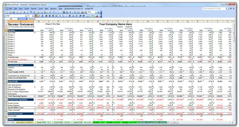 Financial Excel Template by Business Plan Financial Model Template Bizplanbuilder