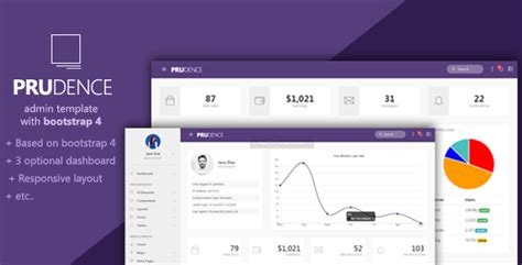 bootstrap themes mit prudence bootstrap admin template by alfisahr themeforest