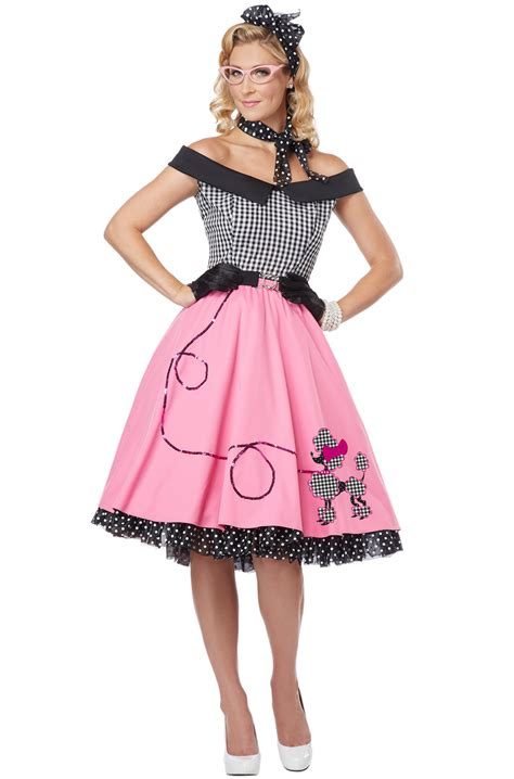 50 girl halloween costumes nifty 50 s poodle dress skirt adult costume ebay