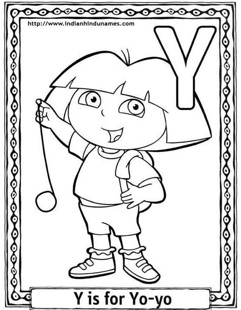 alphabet coloring pages y cartoon letter colouring pages