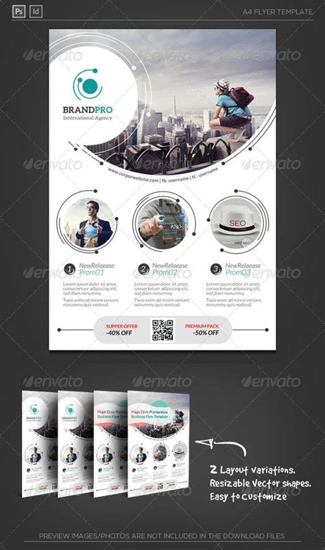 flyer layout maker magic circle ii corporate flyer circles corporate