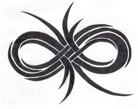 infinity tribal tattoo infinity