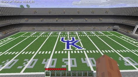 minecraft sports stadium minecraft university of kentucky football stadium youtube