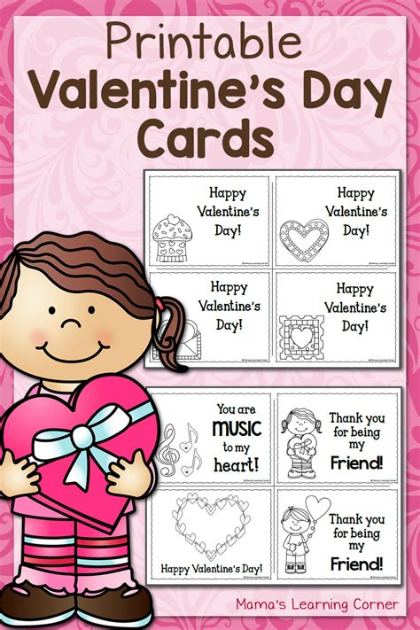 Pre K S Day Cards Templates by Printable S Day Cards Mamas Learning Corner