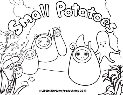 Erica Kepler Small Potatoes Coloring Pages Small Coloring Pages