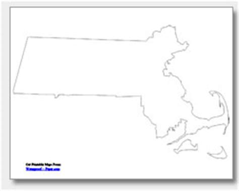 printable map massachusetts outline map massachusetts