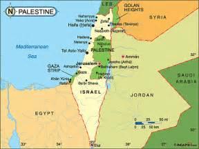 palestine carte touristique