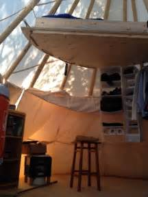 calgarian living in teepee despite freezing temperatures