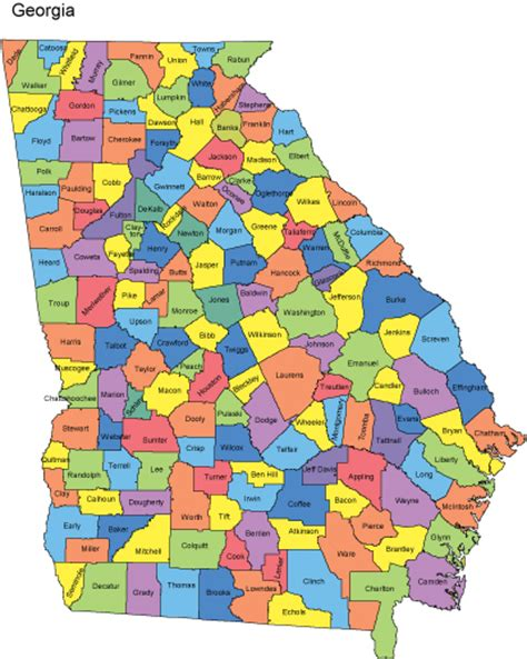 county ga map with counties