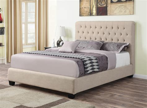 courtney bed courtney oatmeal upholstered bed the furniture lady