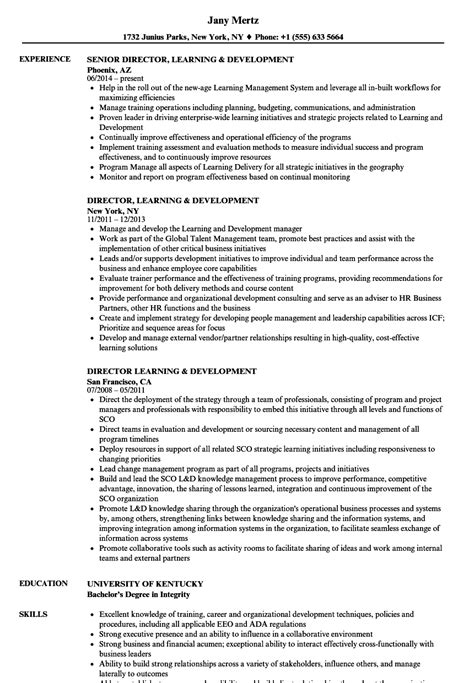 learning and development manager resume exles awesome development resume sles ideas resume