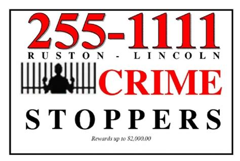 crime stoppers lincoln ruston lincoln crime stoppers