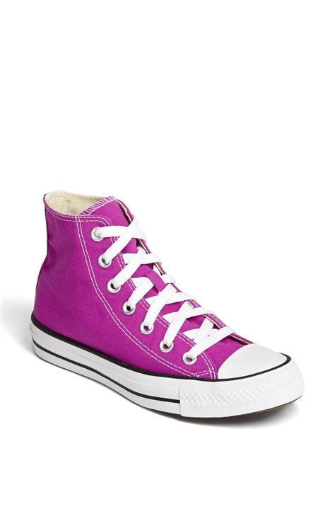 converse chuck all high top sneaker womens converse chuck all high top sneaker in purple